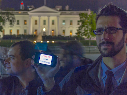 FCC protest at the White House